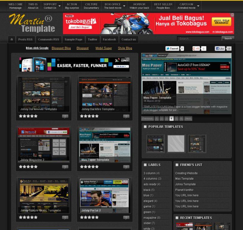 template blogspot 2012 koleksi gue source code aplikasi